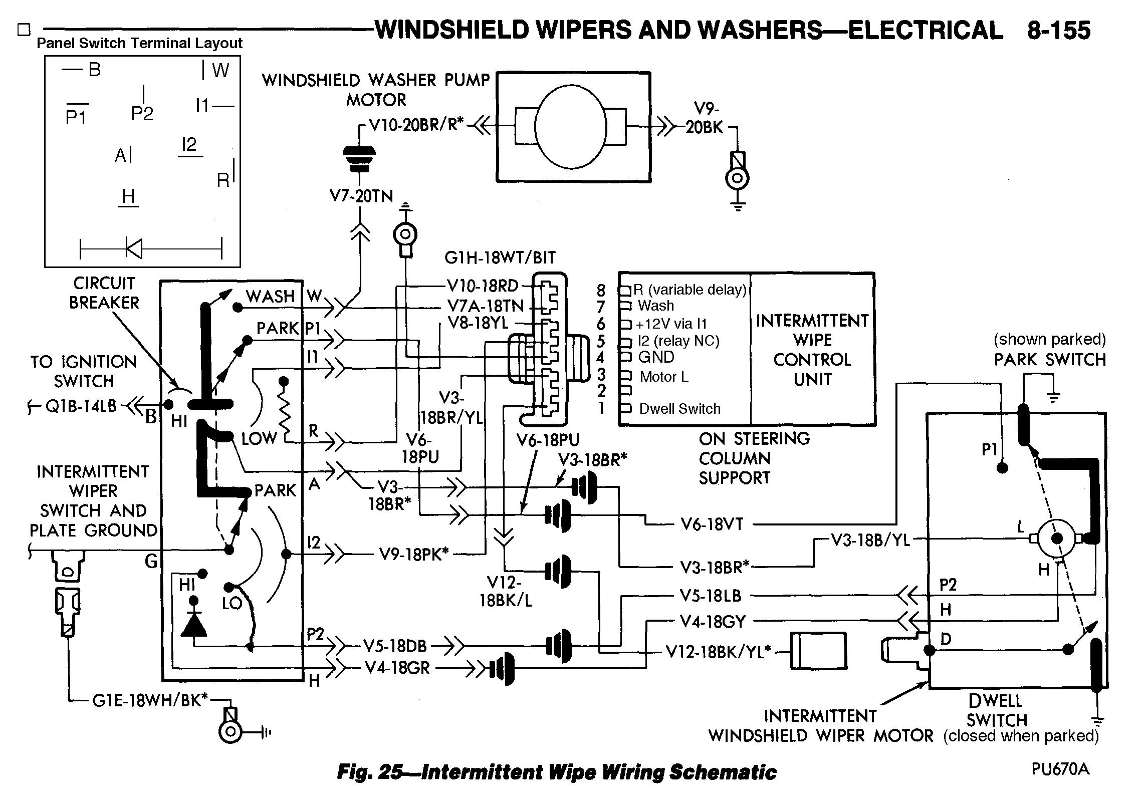 chrysler intermittent (delay) wiper fix normal car wiring diagrams honda car wiring diagrams #8